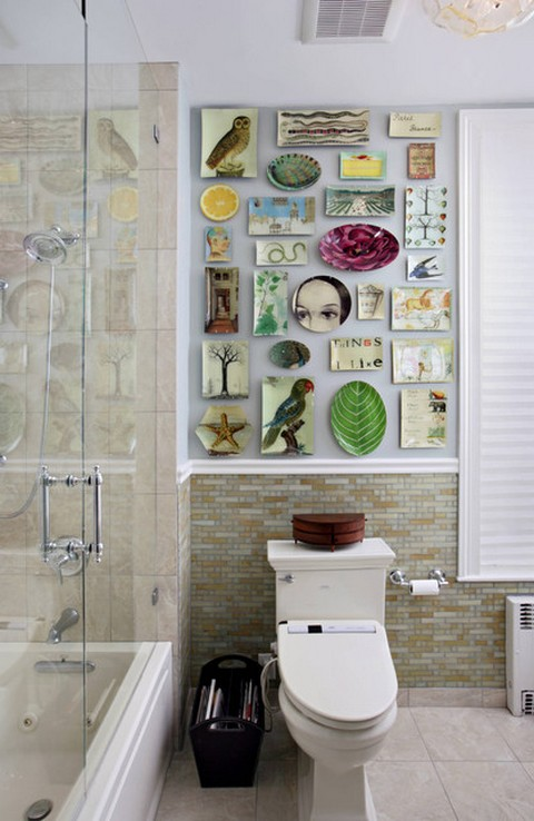 If You Lack Enough E In Your Bathroom A Feature Wall Could Provide An Interesting Decor