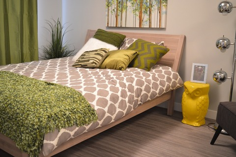 'Green is in' bedroom design