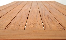 Garden deck made of teak