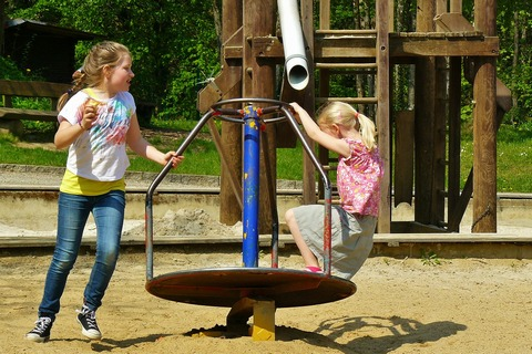 Make sure playground equipment is safe for children
