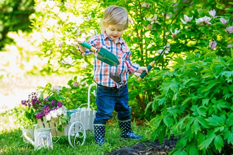Get children involved in landscaping in your home garden