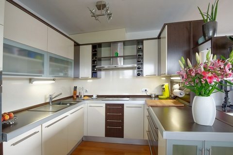 Modernly designed kitchen