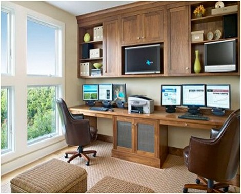 Orderly looking home office
