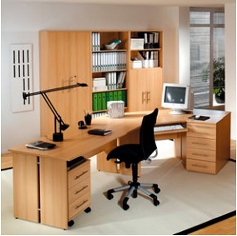 Home office desks with drawers